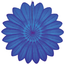 blue paper flower hanging paper decorations