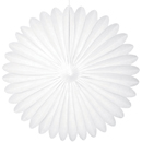 white paper fan hanging paper decorations