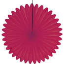 cerise paper fan hanging paper decorations
