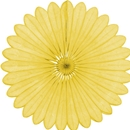 yellow paper fan hanging paper decorations