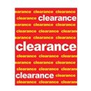 22x28 Clearance poster
