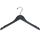 Rubber Coated Black Wood Hanger 17""