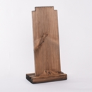Tall Single Rustic Wood Necklace Display Category