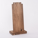 Tall Double Rustic Wood Necklace Display Category