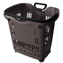 Gray Rolling Shopping Basket