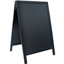 Securit® A-Frame Sidewalk Chalkboard with lacquered black finish