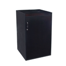 black gloss register stand