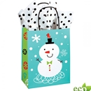 8x4-3/4x10-1/2 Snowman Paper Shopping Bag