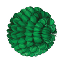 green paper sphere hanging paper decorations