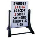 Swinger sidewalk sign SSWNB