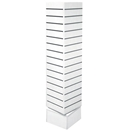 12x12x54 rotating slatwall unit white