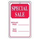 Sale tag with string