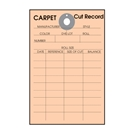 Carpet Cut Record Tag