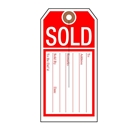 2-5/8x5-1/4 Sold slit tag