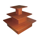Table 3 tier square cherry