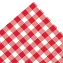 Red Gingham Check Tissue
