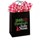 Paper Shopping Bag with 'tis the Season print