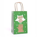 5½x3¼x8⅜ Woodland Owl Paper Shopping Bag Category