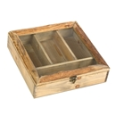 Natural Wooden Divided Box