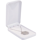 White Faux Leather Necklace Box