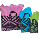 16x6x12 Zebra frosted shopper