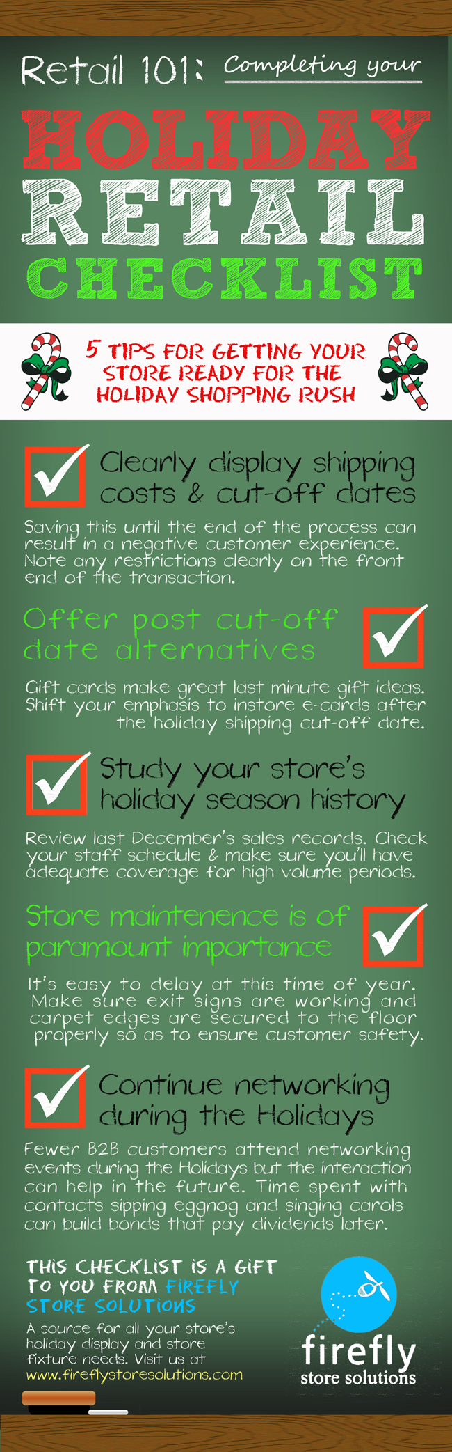 holiday retail checklist
