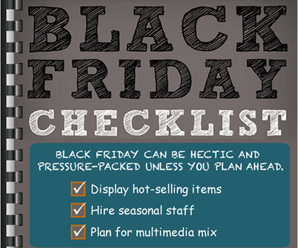 How should stores approach inventory planning for black friday