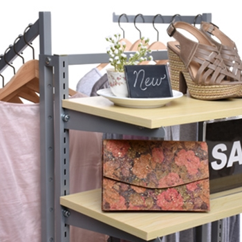 Retail design and customer experience: Racks, shelves and tables