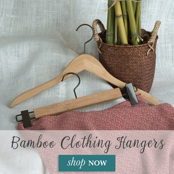 Add a touch of beauty to your home or business with our Natural Bamboo Clothing Hangers.