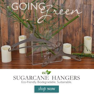 Buy eco-friendly, biodegradable, sustainable, sugarcane hangers for home or businessSugarcane hangers