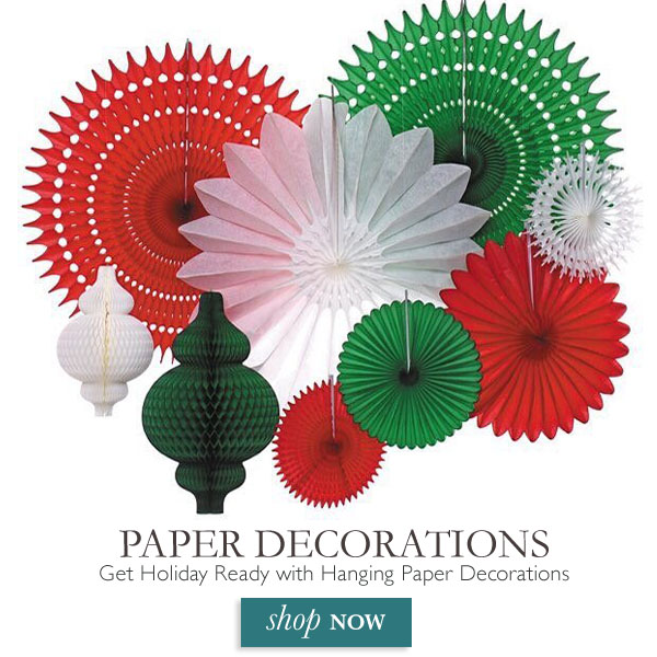 Get Holiday Ready with Hanging Paper Decorations