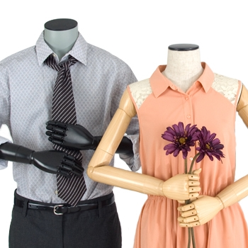 Display outfits for Valentine's Day dates