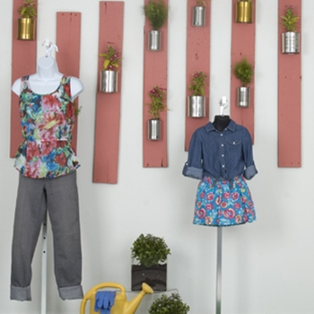 Floral themes for window displays