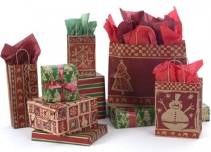 Get in the holiday spirit with store packaging