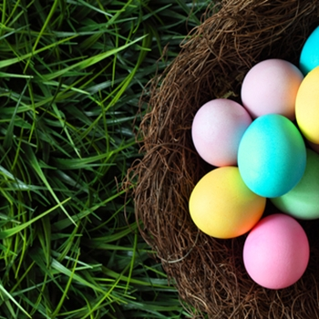 Create Easter-themed displays for spring holidays