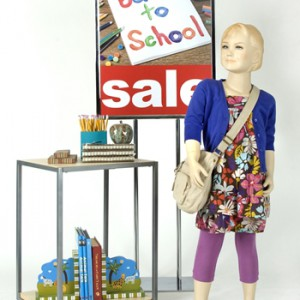 Window displays for back-to-school sales
