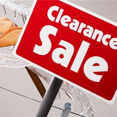 Fall into summer with a great clearance sale