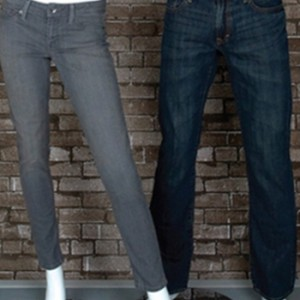 Back to school: Displaying jeans on half pant forms