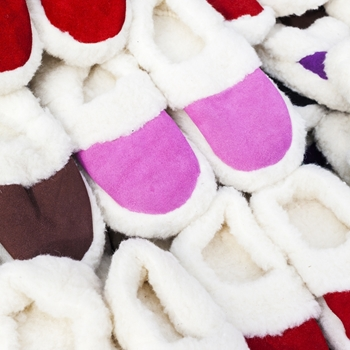 Put your best foot forward with holiday slipper displays