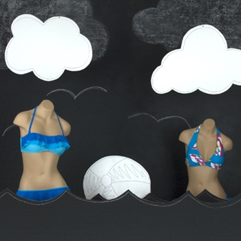 New, fun ways to display your swimsuits for the remainder of summer