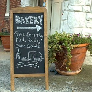 Reinvent a display with chalkboard paint
