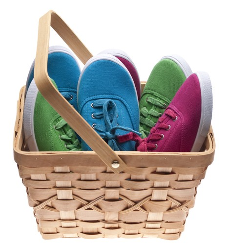 Show off your merchandise in baskets