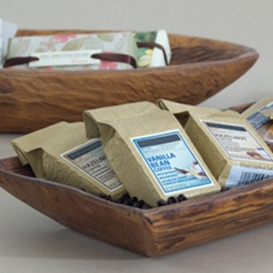 Wood trays can keep small items organized for an array of businesses